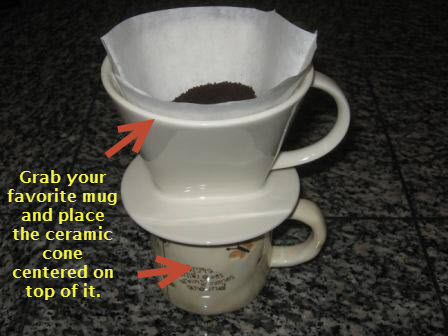 Pour over coffee brewing method 1