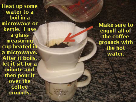 Pour over coffee brewing method 2