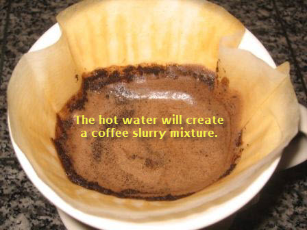 Pour over coffee brewing method 3