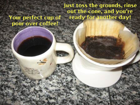 Pour over coffee brewing method 6