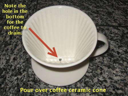Pour over coffee ceramic cone