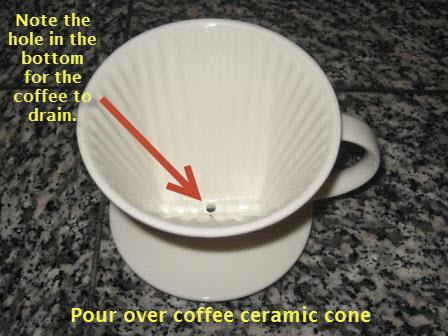 Pour over coffee ceramic cone