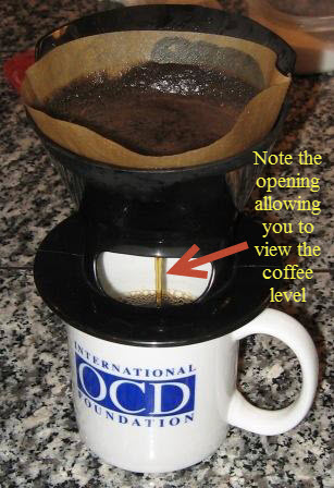 Easily able to view coffee level with Melitta dripper